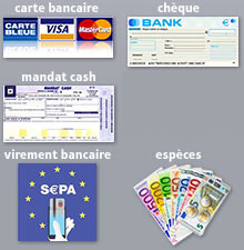 Modes de paiements à disposition